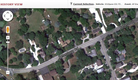 Mapping Features For Asset Trailer Tracking - Current aerial maps