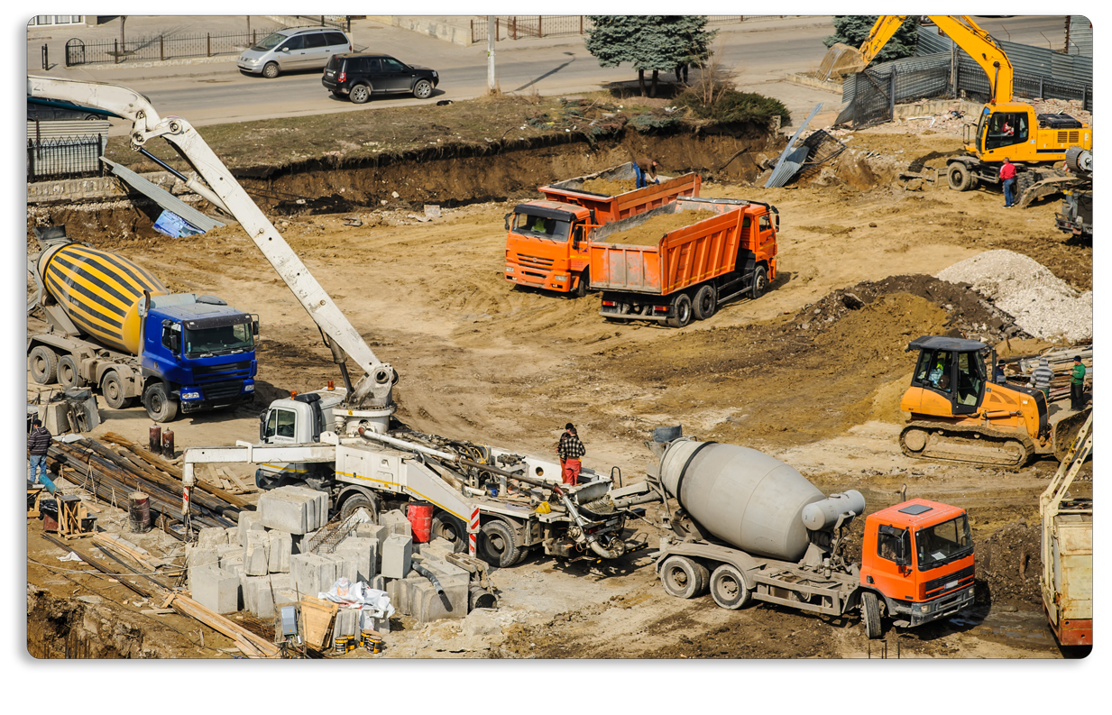 construction equipment job site